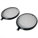 T1 Stealth Black Vintage style Mesh Headlight Grilles