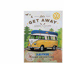 Magnetic sign VW Bus Type2 Split Let´s get away 8cm x 6cm
