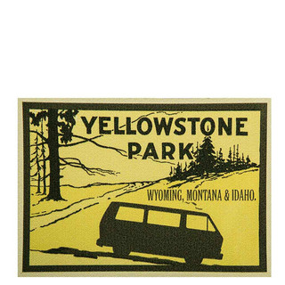 Sticker T3 Yellowstone Park Wyoming, Montana & Idaho