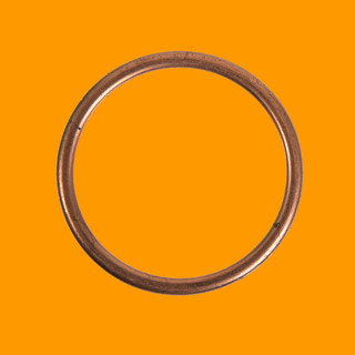 Type2 split Gasket between cylinder head and manifold, NOS, orig. VW, single port 40-42 Din Hp, 1,3l - 1,6l 8.64 - 7.70 OEM partnr. 311129707