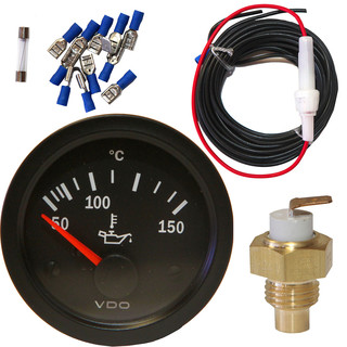 Type2 Split and Bay VDO Oil Temperature Gauge Kit (with Sump Sender)