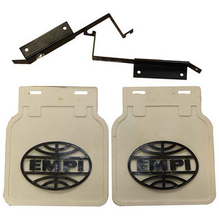 Empi Logo Mudflap white (Pair) for VW Beetle and T2 Split and Ba