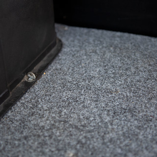 Type2 early bay felt-carpet for trunk floor Top Made in Germany lightgrey